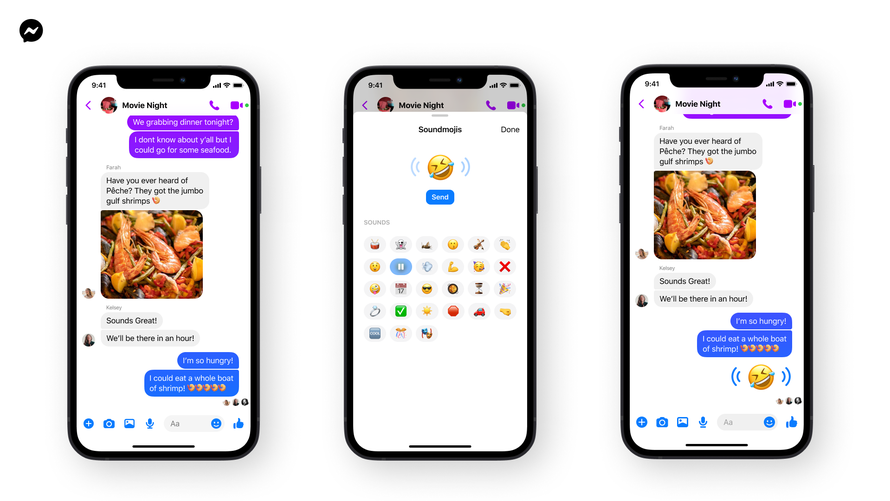 Facebook Messenger adds Soundmoji, a type of emoji with sound effects