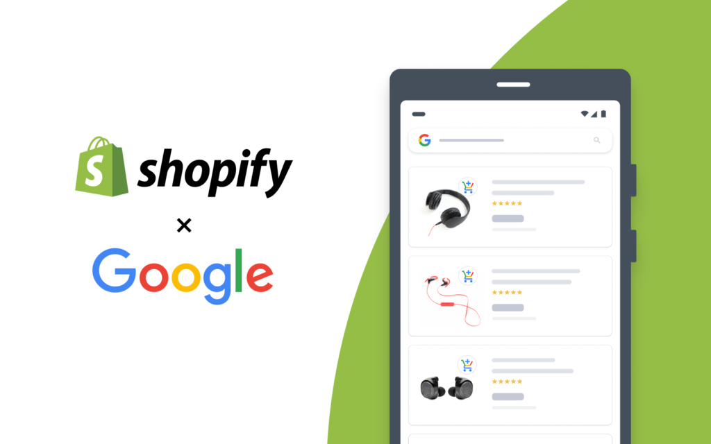 How APIs are used in partnership between Google and Shopify